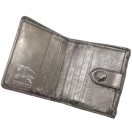 Burberry(버버리) 프로섬 로고 장식 메탈릭 퀼팅 스티치 반지갑 이미지4 - 고이비토 중고명품
