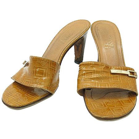Versace(베르사체) 금장 로고 장식 여성용 구두