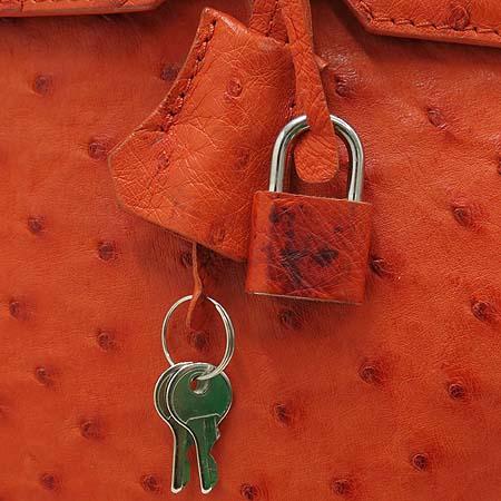 COLOMBO(콜롬보) 오스트리치 벌킨 35 토트백+숄더스트랩 [강남본점] 이미지5 - 고이비토 중고명품