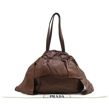 Prada(프라다) 금장 로고 리본 디테일 램스킨 숄더백 [부산센텀본점] 이미지2 - 고이비토 중고명품