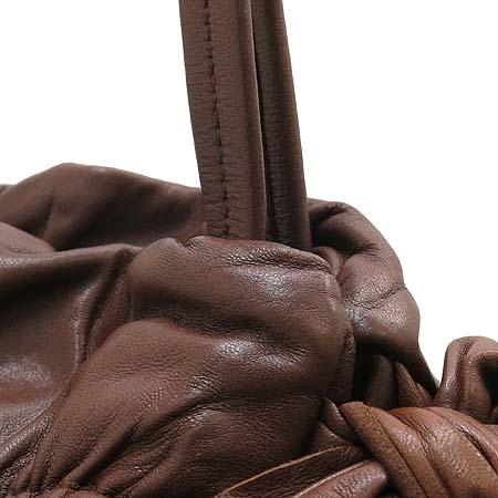 Prada(프라다) 금장 로고 리본 디테일 램스킨 숄더백 [부산센텀본점] 이미지4 - 고이비토 중고명품