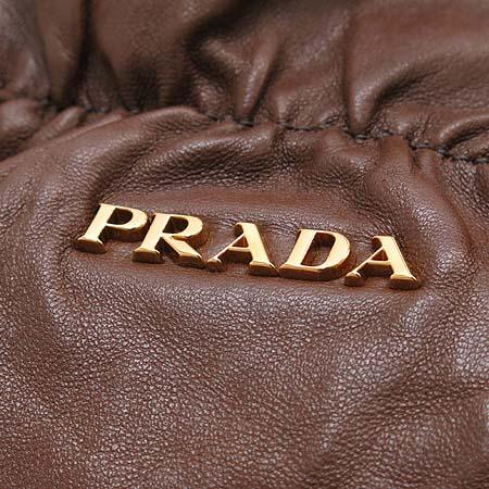 Prada(프라다) 금장 로고 리본 디테일 램스킨 숄더백 [부산센텀본점] 이미지5 - 고이비토 중고명품