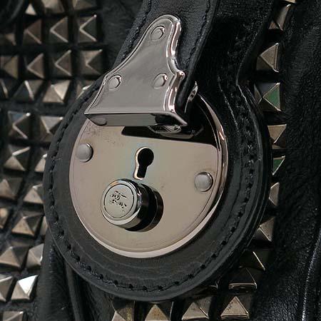 Burberry(버버리) 블랙 레더 프로섬 스터드 토트백 [강남본점] 이미지6 - 고이비토 중고명품