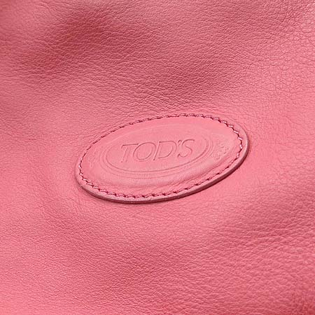 Tod's(토즈) 핑크 레더 로고 장식 숄더백