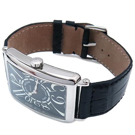 FRANCK MULLER(프랭크 뮬러) 1000QZ LONG ISLAND (롱 아일랜드) 크로커다일 밴드 남성용 시계