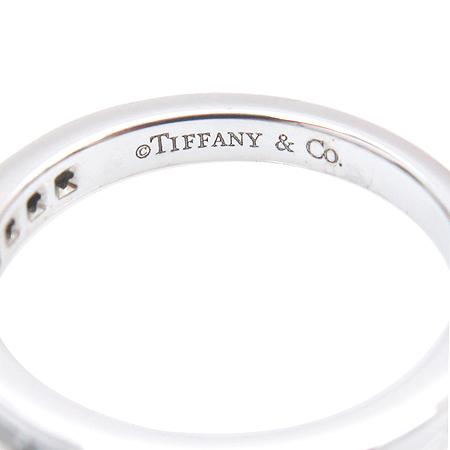 Tiffany(티파니) PT950 (플래티늄) CHANNEL SET 13 포인트 다이아 반지