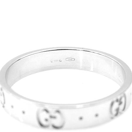 Gucci(구찌) 18K 화이트 골드 아이콘 반지 - 19호 [명동매장]