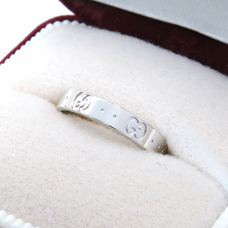 Gucci(구찌) 18K 화이트 골드 아이콘 반지 - 19호 [명동매장] 이미지3 - 고이비토 중고명품