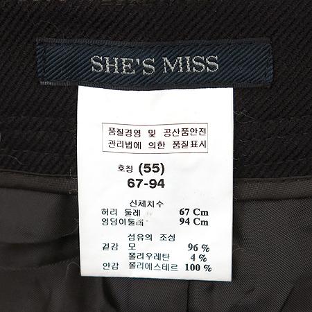 SHE'S MISS(쉬즈미스) 다크 브라운 바지