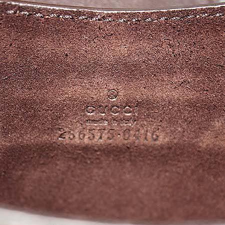 Gucci(구찌) 256575 GG로고 PVC 다크 브라운 레더 아이패드 케이스