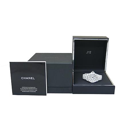Chanel(샤넬) H0968 J12 33M 쿼츠 데이트 화이트 세라믹 여성용시계 [동대문점]