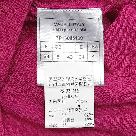 Dior(크리스챤디올) 리본장식 핫핑크 반팔 티(배색:실크 100) 이미지5 - 고이비토 중고명품