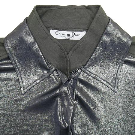 Dior(크리스챤디올) 메탈릭 카라남방 (배색:실크혼방) 이미지2 - 고이비토 중고명품