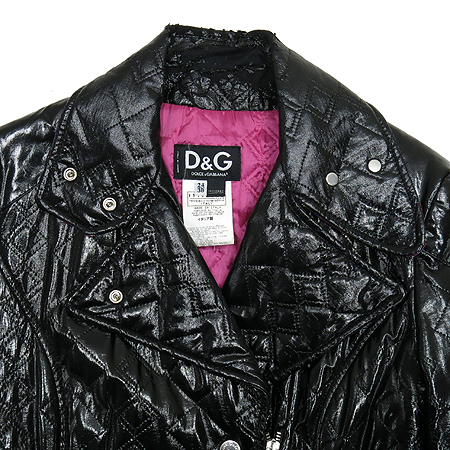 D&G(돌체&가바나) 블랙 합성소재 코트 (허리끈set)