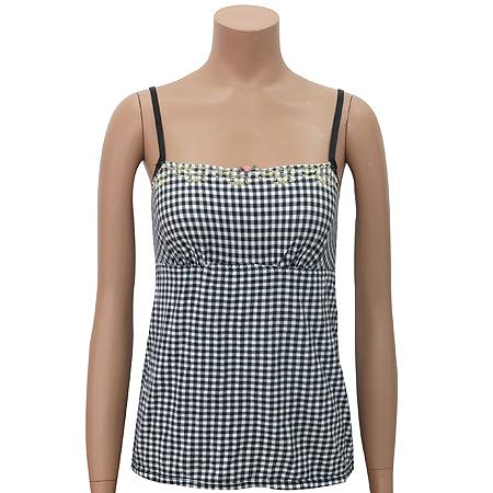 DKNY(도나카란) 체크 패턴 끈나시