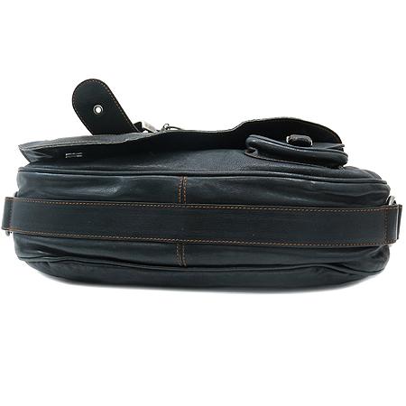 Dior(크리스챤디올) 빈티지 블랙 레더 가우쵸 원포켓 숄더백