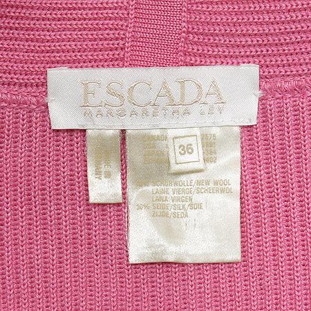 Escada(에스까다) 실크 혼방 핑크 가디건