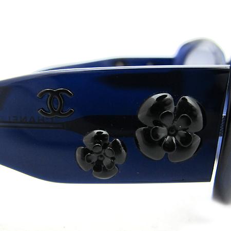 Chanel(샤넬) C.503 까멜리아 장식 블루 뿔테 선글라스