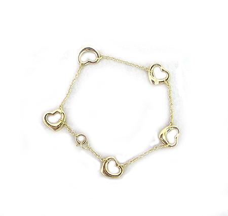Tiffany(티파니) 10665213 18K 골드 ELSA PERETTI(엘사 페레티) 오픈 하트 팔찌