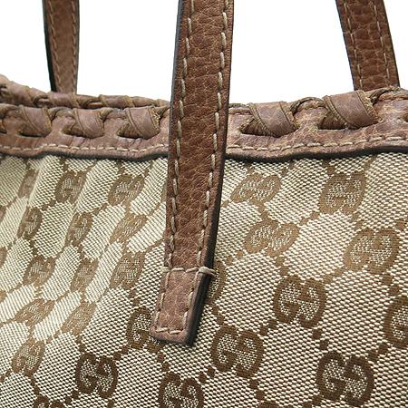 Gucci(구찌) 218780 GG로고 뱀부 장식 자가드 쇼퍼 숄더백