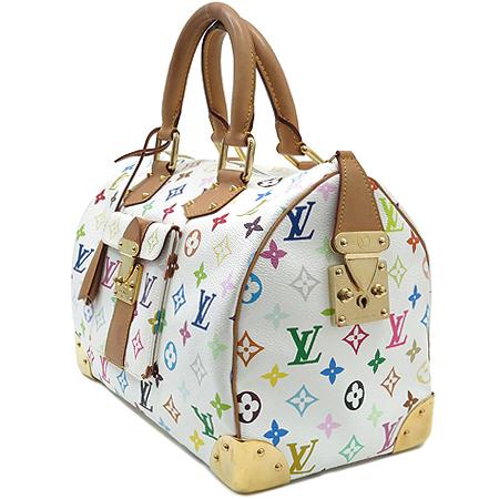 Louis Vuitton(루이비통) M92643 모노그램 멀티 화이트 스피디30 토트백 이미지3 - 고이비토 중고명품