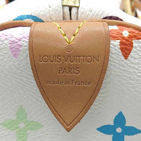 Louis Vuitton(루이비통) M92643 모노그램 멀티 화이트 스피디30 토트백 이미지7 - 고이비토 중고명품