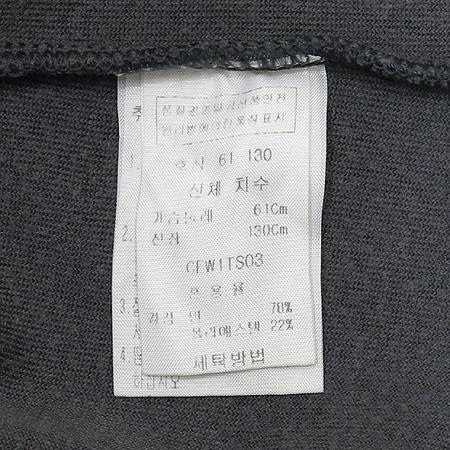 MODA CARINA 아동용 그레이 벨벳 반팔 티 이미지4 - 고이비토 중고명품