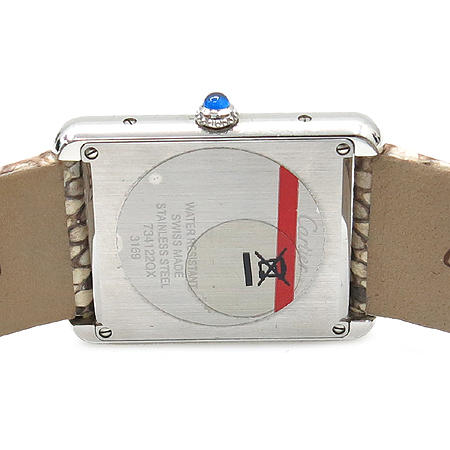 Cartier(까르띠에) W5200020 탱크 솔로 파이손 가죽 밴드 여성용 시계