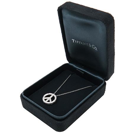 Tiffany(티파니) PT950 (플레티늄) PEACE 다이아 팬던트 목걸이 [강남본점] 이미지3 - 고이비토 중고명품