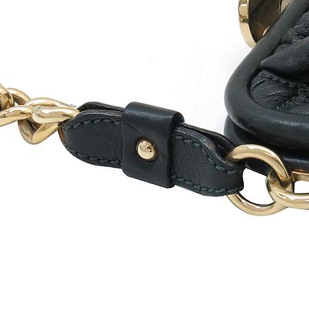 Marc_Jacobs (마크제이콥스) 블랙 퀼팅 미니 스탐  금장체인 숄더백