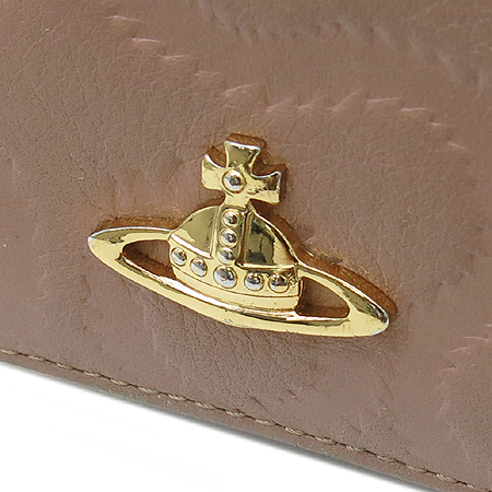 Vivienne_Westwood(비비안 웨스트우드) VBTC WA 0015 ORB 금장 로고 장식 핑크 레더 중지갑