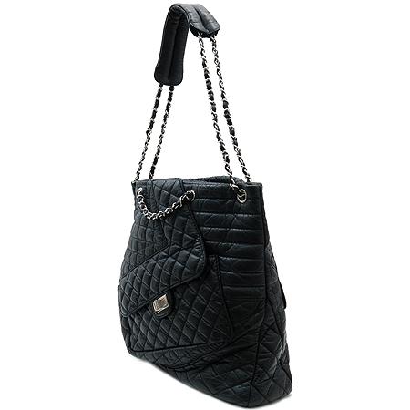 Chanel(샤넬) A48946 블랙 레더 Kar's Cavas(칼스 카바스) 은장 체인 2WAY [명동매장]