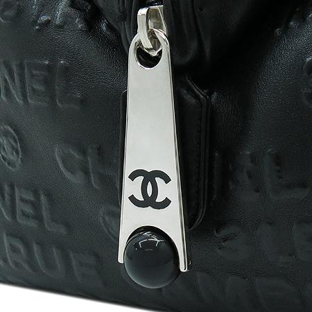 Chanel(샤넬) 블랙 레더 COCO 로고 아이콘 보스톤 토트백