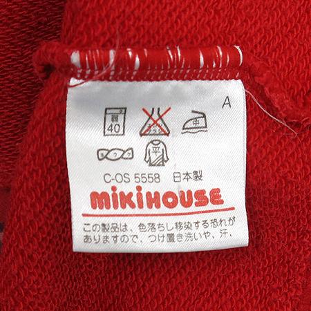 Miki House(미키하우스) 아동용 레드컬러 후드 집업 점퍼 이미지5 - 고이비토 중고명품