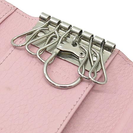 Dior(크리스챤디올) 로고 자가드 장식 핑크 레더 키케이스