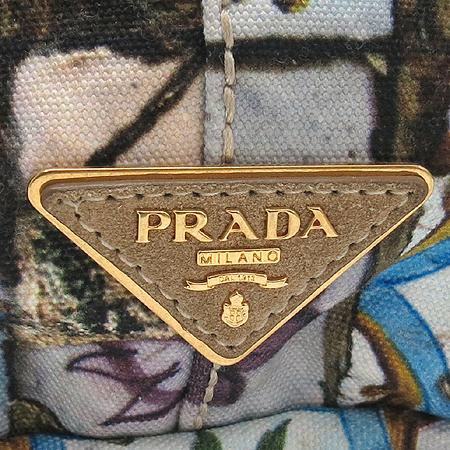 Prada(프라다) 플라워 패턴 패브릭 토트백