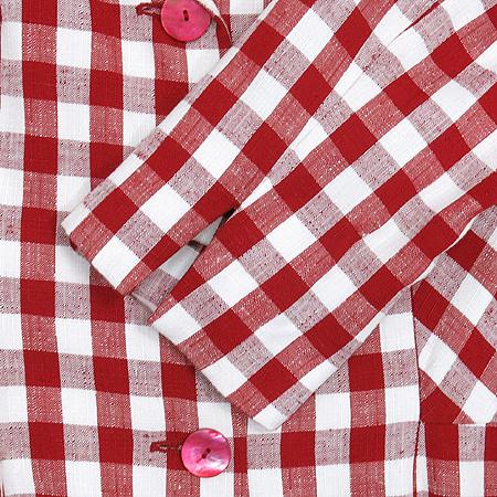 Moschino(모스키노) 실크 혼방 체크 패턴 코트