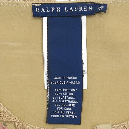 Polo Ralphlauren(폴로) 플라워 패턴 레이스 장식 티