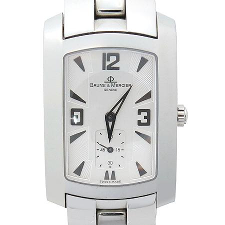 Baume&Mercier(보메 메르시에) 은장 사각 남성용 스틸 시계
