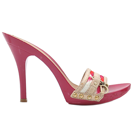 Dior(크리스챤디올) 금장 이니셜 장식 오픈토 여성용 샌들 이미지3 - 고이비토 중고명품