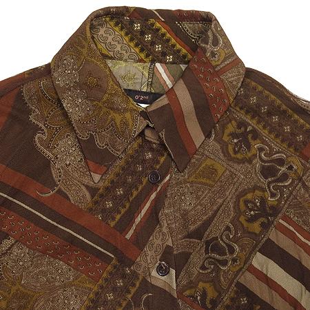 O'2nd(오즈세컨) 브라운 컬러 패턴 브라우스