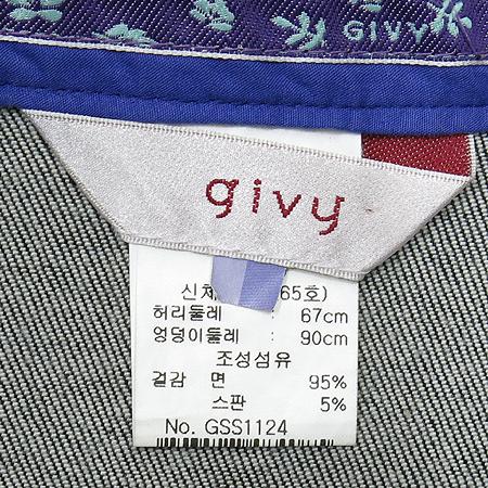 GIVY(기비) 플라워 프린팅 데님 자켓 / 스커트 SET