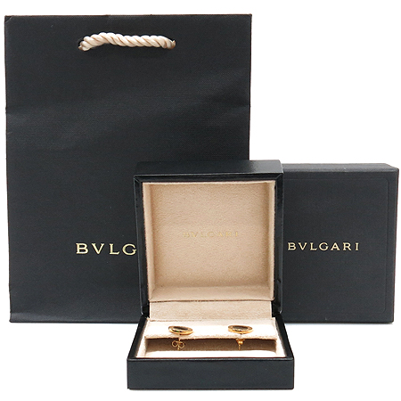 Bvlgari(불가리) 18K 블랙 오닉스 불가리 불가리 스터드 귀걸이 [명동매장]