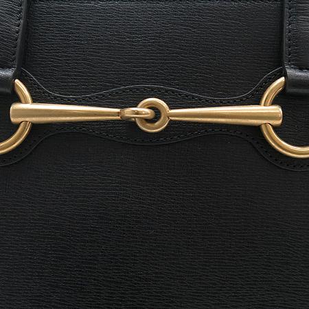 Gucci(구찌) 319795 블랙 레더 톱 핸들 토트백+숄더 스트랩