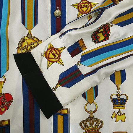 Escada(에스까다) 메달 패턴 실크 브라우스