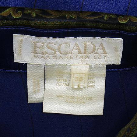 Escada(에스까다) 퍼플 컬러 실크 브라우스