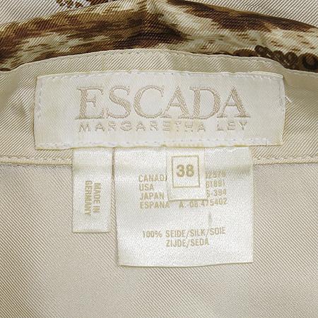 Escada(에스까다) 코끼리 패턴 실크 브라우스