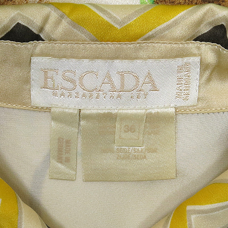 Escada(에스까다) 코알라 패턴 실크 브라우스