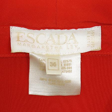 Escada(에스까다) 플라워 레드 컬러 실크 브라우스