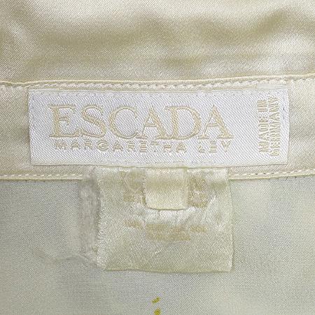 Escada(에스까다) 가로등 패턴 실크 브라우스